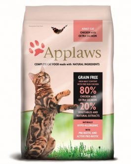 Applaws CAT DRY Adult Chicken & Salmon 7.5 kg.