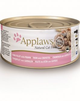 Applaws CAT CANS Tuna Fillet & Prawn 70 gr.