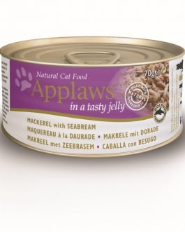 Applaws CAT CANS JELLY Mackerel & Seabream 70 gr.