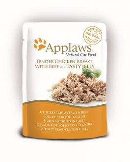 Applaws CAT QUICK SERVE JELLY Chicken & Beef 70 gr.