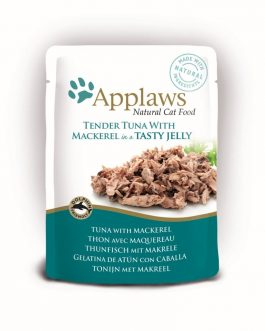Applaws CAT QUICK SERVE JELLY Tuna Wholemeat & Mackerel 70 gr.