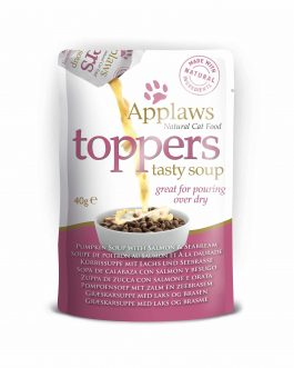 Applaws CAT TOPPER Seabream & Tuna in Soup 3 x 40 gr.