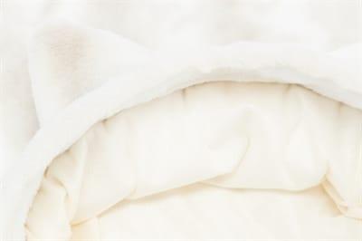 Trixie slaapzak kat nelli wit / taupe