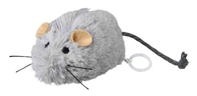 Trixie opwindbare pluche muis met catnip